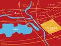 华夏湖畔御苑交通图